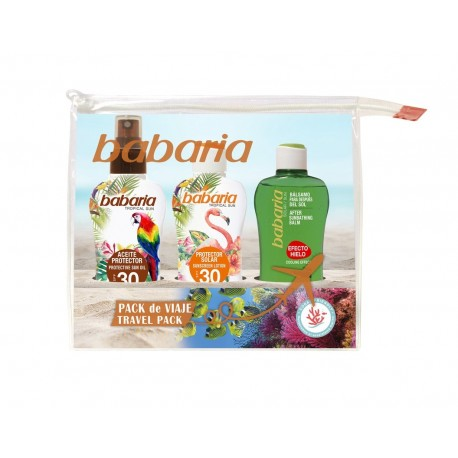 BABARIA TROPICAL SUN NECESER VIAJE SET REGALO