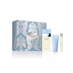 comprar perfumes online DOLCE & GABBANA LIGHT BLUE EDT 100 ML +MINI 10 ML + B/LOTION 100 ML SET REGALO mujer