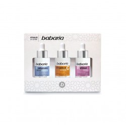 BABARIA SERUM ACIDO HIALURONICO 30ML + SERUM VITAMINA C 30 ML + SERUM RETINOL 30 ML SET REGALO