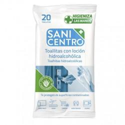 SANICENTRO TOALLITAS PARA MANOS HIDROALCOHÓLICAS 20 UDS