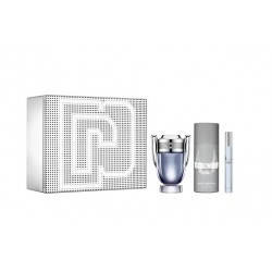 comprar perfumes online hombre PACO RABANNE INVICTUS EDT 100 ML + MINI 10 ML + DEO SPRAY 150 ML SET REGALO