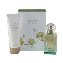 comprar perfumes online unisex HERMES UN JARDIN SUR LE NIL EDT 50 ML + B/LOC 75 ML SET REGALO