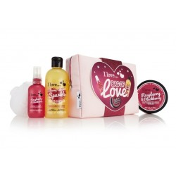 I LOVE...COSMETICS (ESPUMA BAÑO + MANTECA+ FRAGANCIA+ NECESER) SET REGALO
