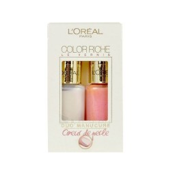 L´OREAL COLOR RICHE DUO MANICURE TAHITIAN PEARL 006 5 ML & PEACHY PINK 218 5 ML