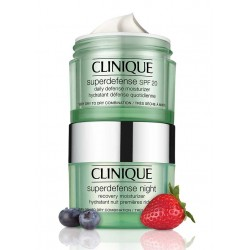 CLINIQUE SUPERDEFENSE DAY CREAM P/SECAS + CLINIQUE SUPERDEFENSE NIGHT CREAM P/SECAS 50 ML SET