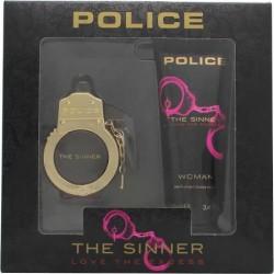 POLICE THE SINNER FOR WOMEN EDT 30 ML + B/L 100 ML SET REGALO