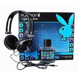 PLAYBOY GENERATION EDT 50 ML + CASCOS MUSICA SET REGALO
