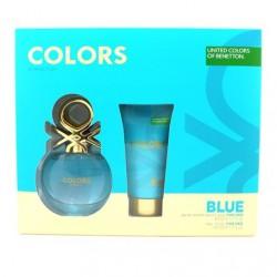 BENETTON COLORS BLUE EDT 50 ML + B/LOC 50 ML SET REGALO