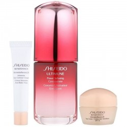 SHISEIDO ULTIMUNE POWER INFUSING CONCENTRATE 30 ML + WR DAY CREAM 15 ML + EYE CREAM 15 ML  SET REGALO