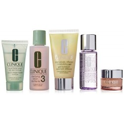 CLINIQUE DAILY ESSENTIALS (LOCION 125 ML + CR. OJOS 15 ML +JABON + LOCION + DESMAQUILLANTE) SET ESPECIAL PIEL GRASA