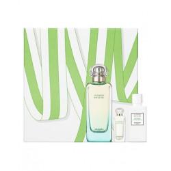 comprar perfumes online unisex HERMES UN JARDIN SUR LE NIL EDT 100 ML + EDT 7.5 ML + B/LOC 40 ML SET REGALO