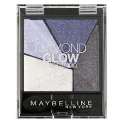 MAYBELLINE QUAD DIAMOND GLOW BLUE DRAMA 03 4G