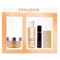 LANCASTER SURACTIF DAY CREAM 50 ML + CLEANS. 100 ML + EYE CREAM 3 ML  + 365 SERUM 10 ML SET REGALO
