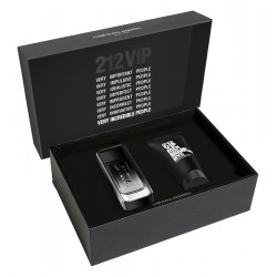 CAROLINA HERRERA 212 VIP BLACK EDP 100 ML + S/GEL 100 ML SET REGALO