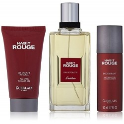 GUERLAIN HABIT ROUGE PACK 3 PIEZAS EDT 100ML+GEL DE DUCHA 75ML+DEO SPRAY 50ML