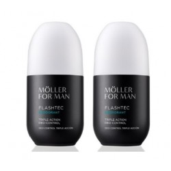 ANNE MOLLER FOR MAN FLASHTEC DEO TRIPLE ACTION CONTROL 75 ML x 2 UDS OFERTA