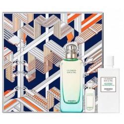 comprar perfumes online unisex HERMES UN JARDIN SUR LE NIL EDT 100 ML + EDT 7.5 ML + B/LOC 80 ML SET REGALO