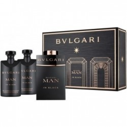 BVLGARI MAN IN BLACK EDP 60 ML + A/S 40 ML + S/ GEL 40 ML SET REGALO