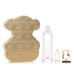 TOUS EDT 90 ML + MINI 4.5 ML + LLAVERO SET REGALO