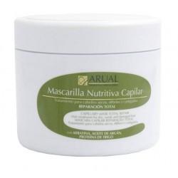 ARUAL MASCARILLA NUTRITIVA CAPILAR KERATINA-ACEITE DE ARGAN 500 ML