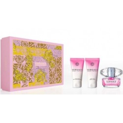 VERSACE BRIGHT CRYSTAL EDT 50 ML + B/L 50 ML + S/GEL 50 ML SET REGALO