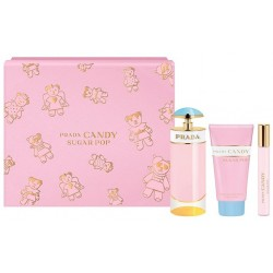 PRADA CANDY SUGAR POP EDP 80 ML + BODY LOTION 75 ML+ EDP ROLL-ON 10ML