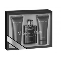 MASSIMO DUTTI IN BLACK EDT 100ML + GEL 75 ML + AFTER SHAVE 75 ML SET REGALO