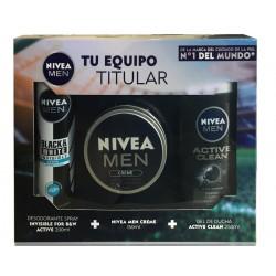 NIVEA MEN PACK CREME 150ML +GEL ACTIVE CLEAN 250 ML + DEO 200 ML