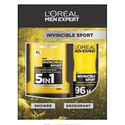 L'OREAL MEN EXPERT INVINCIBLE SPORT DESODORANTE 150ML + GEL 300 ML