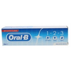 ORAL B  1-2-3 PASTA DENTAL DELICATE WHITE 100 ML
