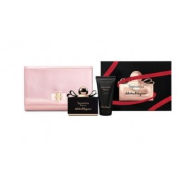 SALVATORE FERRAGAMO SIGNORINA EDP 100 ML + B/L 50 ML + POUCH SET REGALO