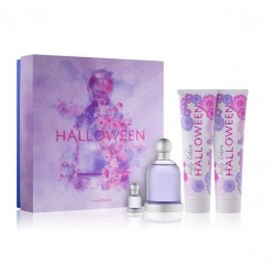 JESUS DEL POZO HALLOWEEN EDT 100 ML + MINI 4.5 ML + B/L 150 ML + GEL 150 ML SET REGALO