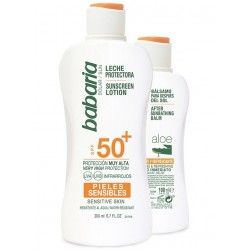 BABARIA LECHE PROTECTORA SOLAR SPF50+ 200ML+ AFTER SUN ALOE 100ML