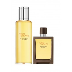 Comprar perfumes online set HERMES TERRE D'HERMES EAU INTENSE VETIVER EDT 30 ML + RECARGA 125 ML SET REGALO