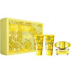 comprar perfumes online VERSACE YELLOW DIAMOND EDT 90 ML + B/L 150 ML + S/G 150 ML SET REGALO mujer
